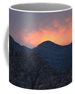 Coffee Mug featuring the photograph Sunset Over Red Rock by Art Whitton