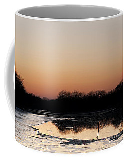 Sunset Over The Republican River Coffee Mug