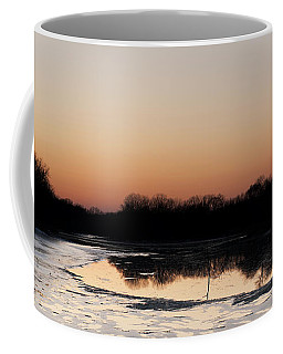 Coffee Mug featuring the photograph Sunset Over The Republican River by Art Whitton