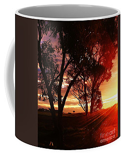 Sunset Through The Trees Coffee Mug