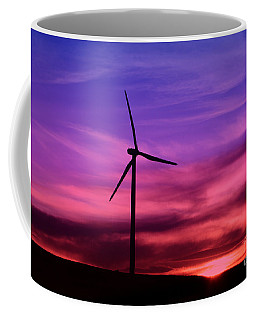 Coffee Mug featuring the photograph Sunset Windmill by Alyce Taylor