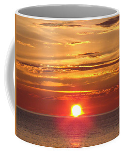 Coffee Mug featuring the photograph Superior Setting by Bonfire Photography