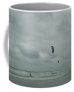 Coffee Mug featuring the photograph Surfing The Wind by Donna Brown