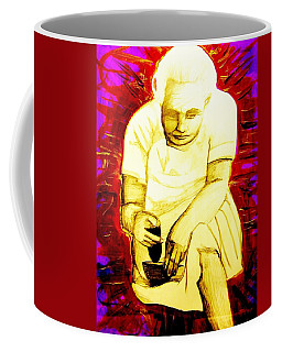 Coffee Mug featuring the mixed media Suruhana by Michelle Dallocchio