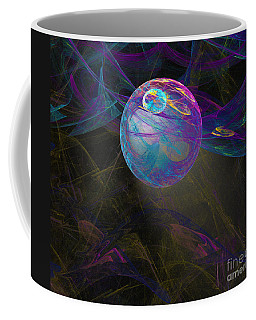 Coffee Mug featuring the digital art Suspension by Victoria Harrington