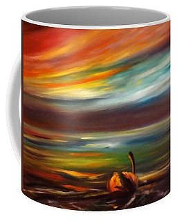 Swan At Sunset Coffee Mug