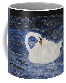 Coffee Mug featuring the painting Swan  by Sonali Gangane
