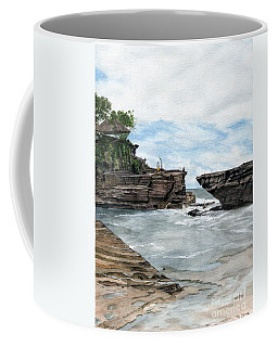 Coffee Mug featuring the painting Tanah Lot Temple II Bali Indonesia by Melly Terpening