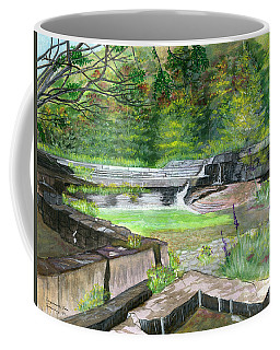 Coffee Mug featuring the painting Taughannock Vista Ithaca New York by Melly Terpening