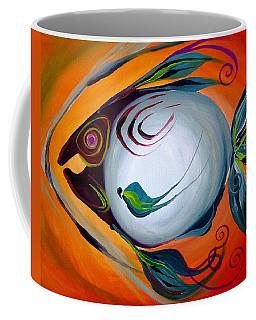 Teal Fish With Orange Coffee Mug