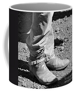 Teen Cowboy Boots In Black And White Coffee Mug