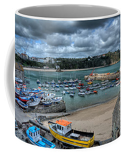 Coffee Mug featuring the photograph Tenby Harbour Pembrokeshire 2 by Steve Purnell