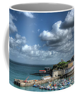 Coffee Mug featuring the photograph Tenby Harbour Pembrokeshire 3 by Steve Purnell