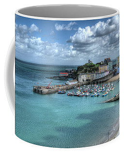 Coffee Mug featuring the photograph Tenby Harbour Pembrokeshire 4 by Steve Purnell