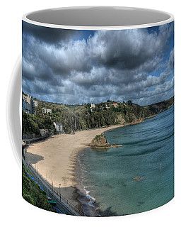 Coffee Mug featuring the photograph Tenby North Beach Pembrokeshire  by Steve Purnell