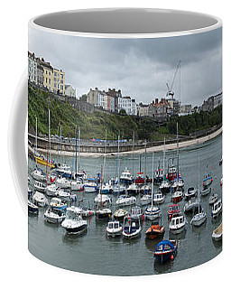 Coffee Mug featuring the photograph Tenby Panorama by Steve Purnell