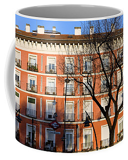 Tenement House Facade In Madrid Coffee Mug