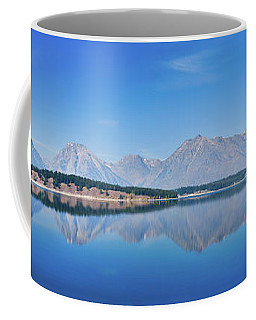 Coffee Mug featuring the photograph Teton Reflections by Greg Norrell