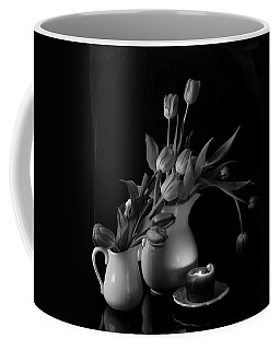 The Beauty Of Tulips In Black And White Coffee Mug