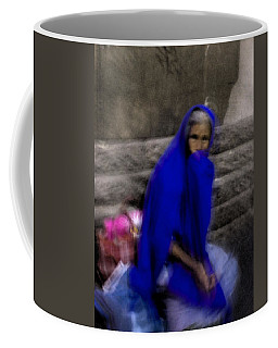 The Blue Shawl Coffee Mug by Lynn Palmer