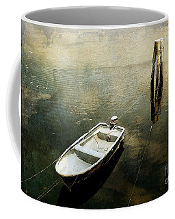 The Boat In Winter Coffee Mug
