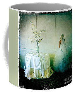 Coffee Mug featuring the photograph The Bride Takes A Moment by Nina Prommer