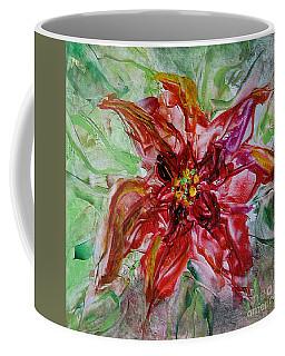 The Christmas Poinsettia Coffee Mug by Dragica  Micki Fortuna