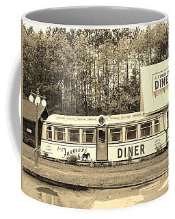 Coffee Mug featuring the photograph The Farmers Diner In Sepia by Sherman Perry