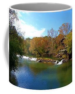 Coffee Mug featuring the photograph The Grist Big River by Peggy Franz