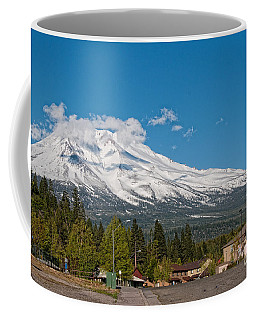 The Heart Of Mount Shasta Coffee Mug by Carol Ailles
