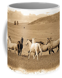 Coffee Mug featuring the photograph The Horse Herd by Steve McKinzie