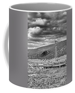 the lonly windmill in B and W Coffee Mug