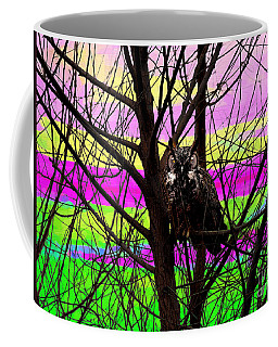 The Owl In An Artists Landscape Coffee Mug