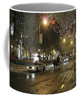 Coffee Mug featuring the photograph The Past Meets The Present In Chicago Il by Ausra Huntington nee Paulauskaite