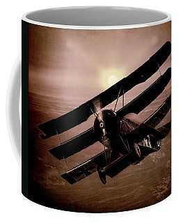 Coffee Mug featuring the photograph The Red Baron's Fokker At Sunset by Chris Lord