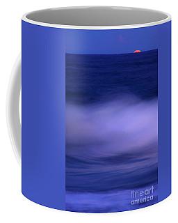 The Red Moon And The Sea Coffee Mug