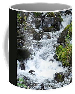 Coffee Mug featuring the photograph The Roadside Stream by Chalet Roome-Rigdon