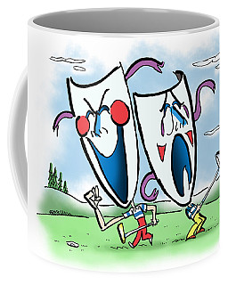 The Two Faces Of Golf Coffee Mug