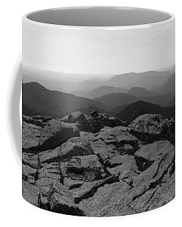 The View North From Mt. Marcy Black And White Three Coffee Mug