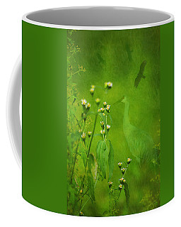 Think Green Coffee Mug by Vicki Pelham