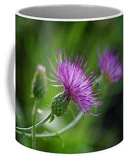 Coffee Mug featuring the photograph Thistle Dance by Vicki Pelham