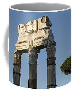 Three Columns And Architrave Temple Of Castor And Pollux Forum Romanum Rome Coffee Mug