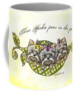 Three Yorkie Peas In The Pod Coffee Mug
