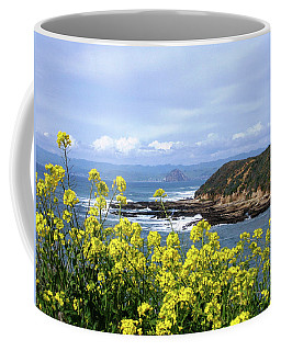 Through Yellow Flowers Coffee Mug
