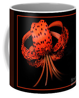 Tiger Lily Wall Art Print Coffee Mug by Carol F Austin