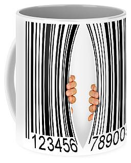 Torn Bar Code Coffee Mug