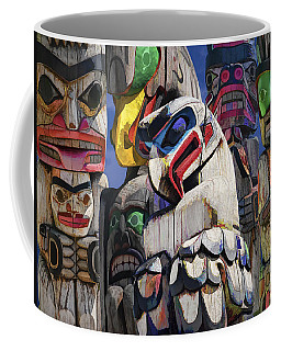 Totem Poles In The Pacific Northwest Coffee Mug