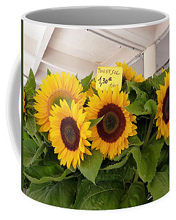 Coffee Mug featuring the photograph Tournesol by Carla Parris