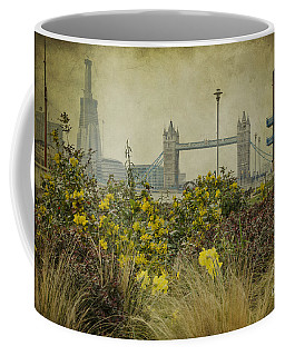 Coffee Mug featuring the photograph Tower Bridge In Springtime. by Clare Bambers