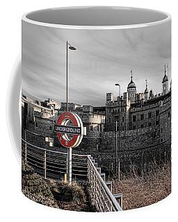 Tower Of London With Tube Sign Coffee Mug